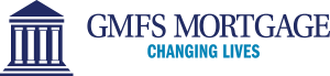 "GMFS Mortgage Logo with ""CHANGING LIVES"" Tagline"