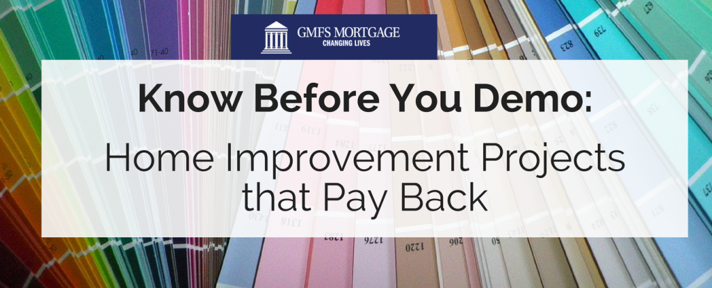 Home Improvement Projects that Pay Back