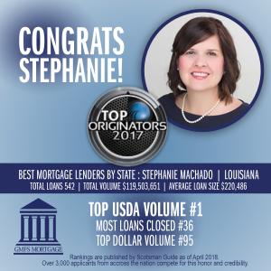 Stephanie Machado Scotsman Guide 2017 Top Originators