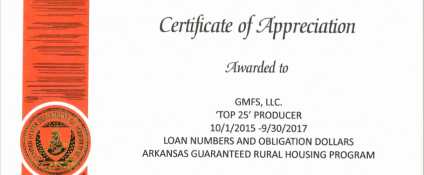 News awards archives gmfs mortgage for Usda rural development arkansas