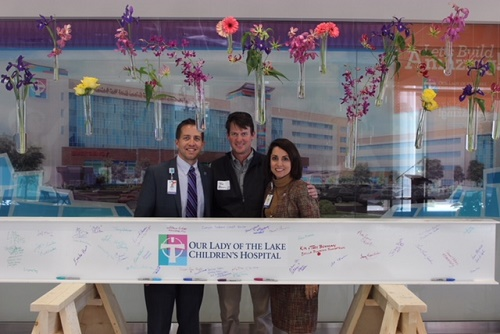 OLOL Childrens Hospital in Baton Rouge - Construction Start - GMFS Corporate Partner