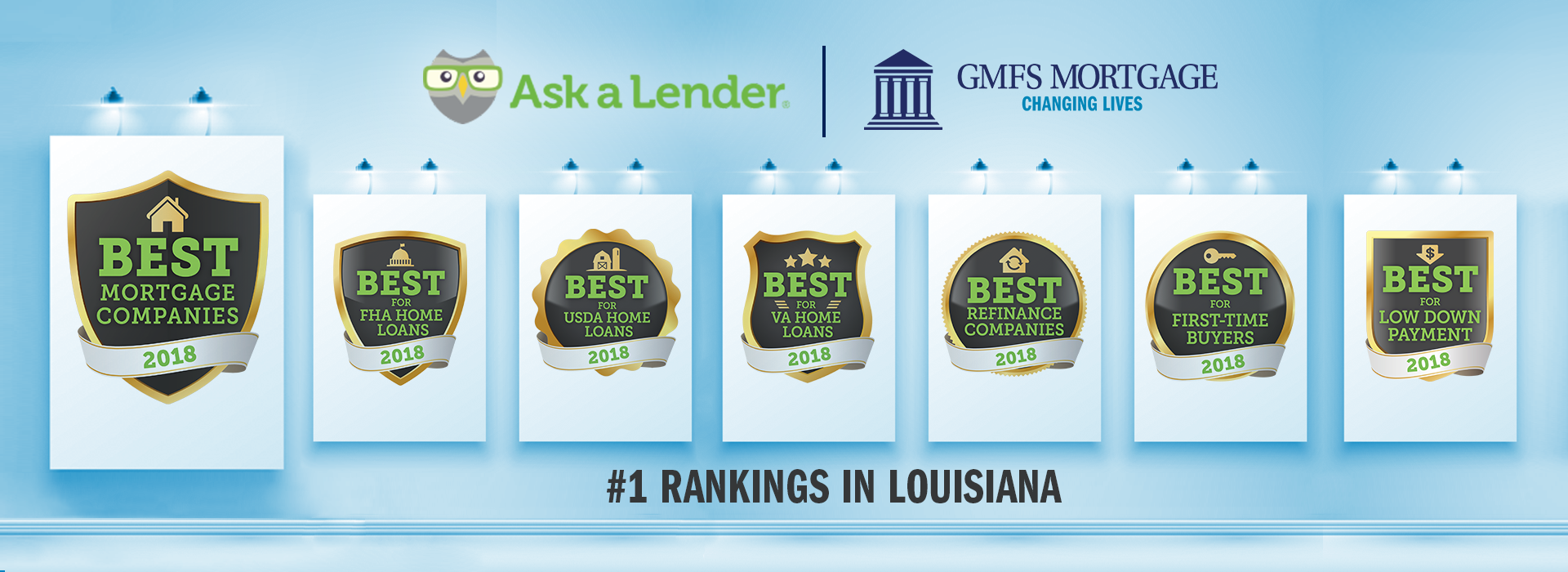 Ask a Lender Ranks GMFS Mortgage as Best Mortgage Company in Louisiana for 2018!