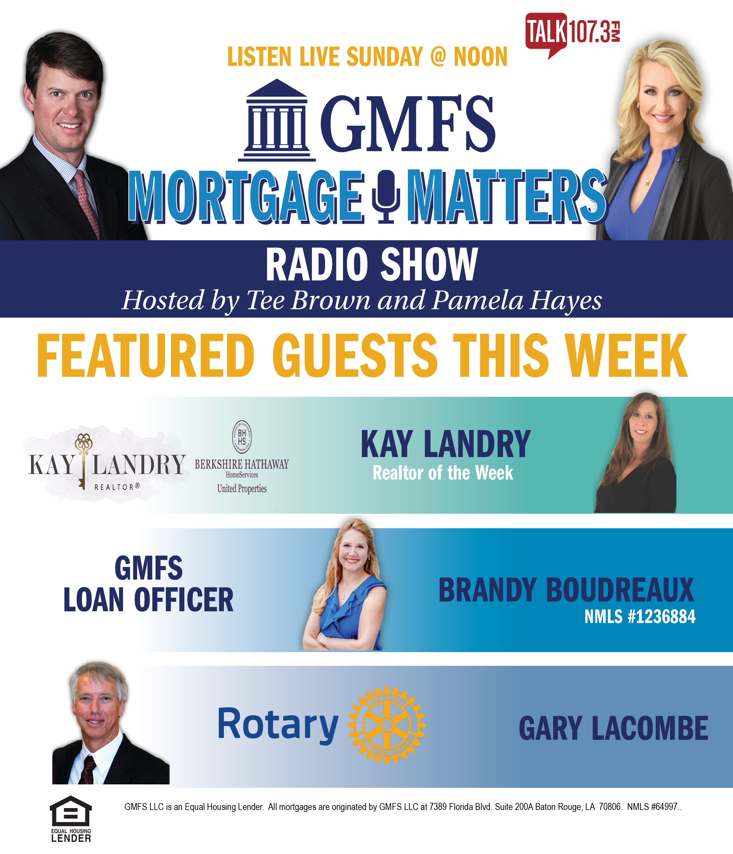 GMFS Mortgage Matters Radio Show Weekly Line Up - TALK107.3FM Baton Rouge